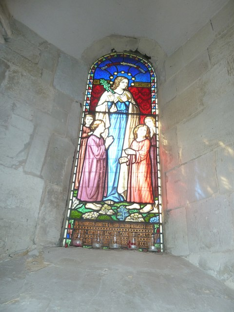 All Saints, Crondall: stained glass window (3)