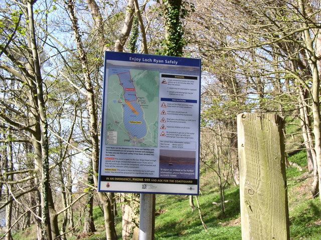 Loch Ryan Sign