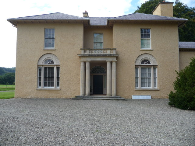 The main entrance door, Llanerchaeron