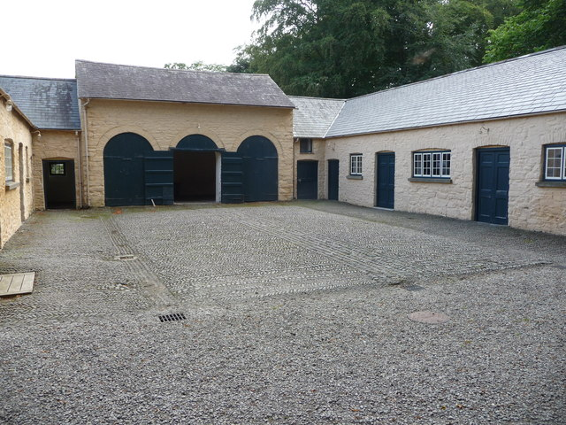 The coach house and courtyard at Llanerchaeron