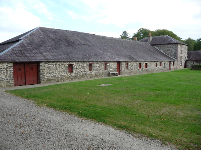 Part of the farm buildings at Llanerchaeron