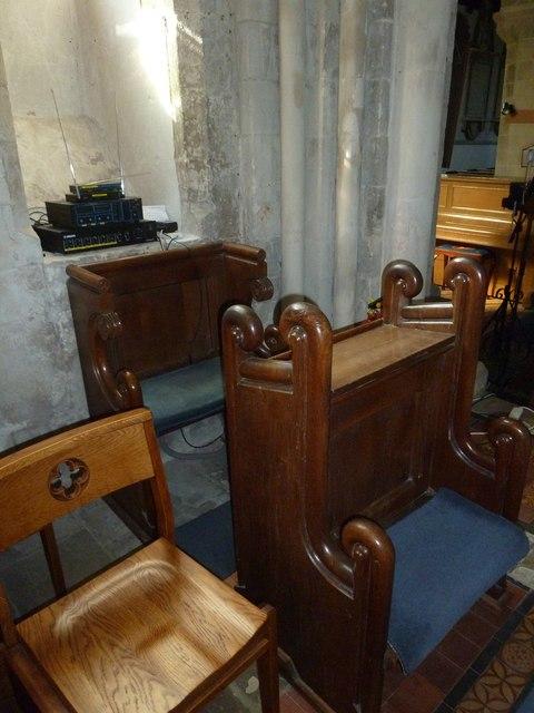 All Saints, Crondall: prayer desk
