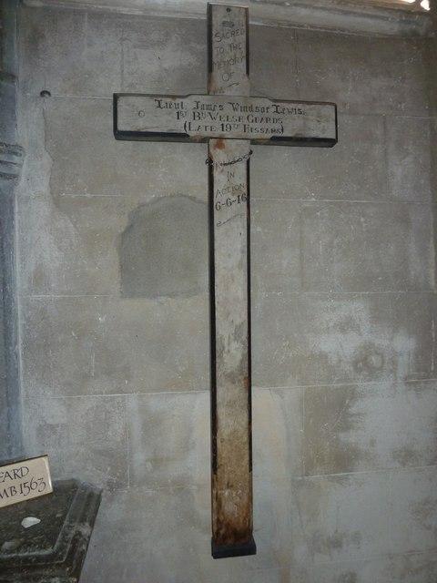 All Saints, Crondall: Great War Cross