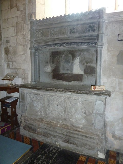 All Saints, Crondall: tomb memorial (1)