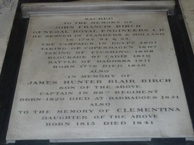 All Saints, Crondall: memorial (9)