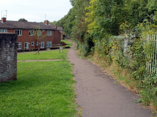 Footpath through Gaer Vale, Newport
