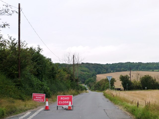 Greengate Road, closed for resurfacing
