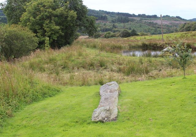 Fallen standing stone, Achnabreck