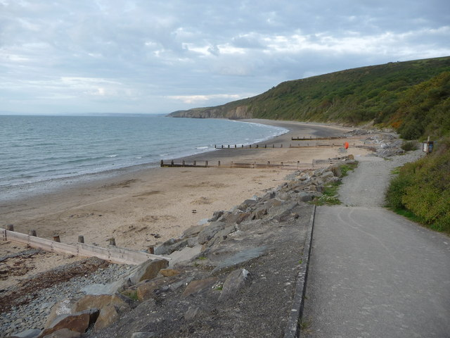 Part of Little Quay Bay and Cei-bach beach