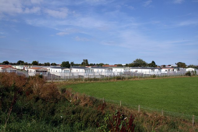 Caravan park on the outskirts of Rhyl