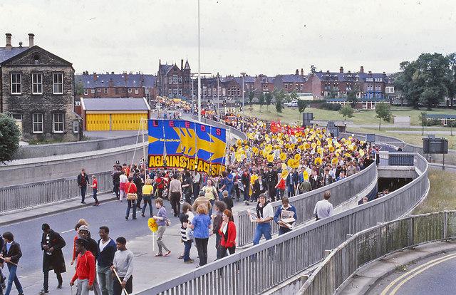 Leeds - Rock Against Racism demonstration  - July 1981