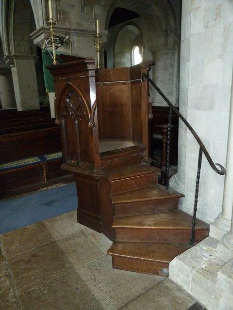 All Saints, Crondall: steps