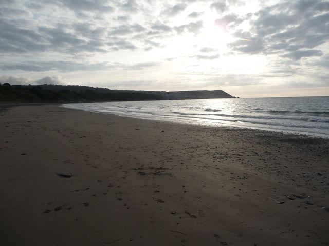 On Cei-bach beach, looking westwards