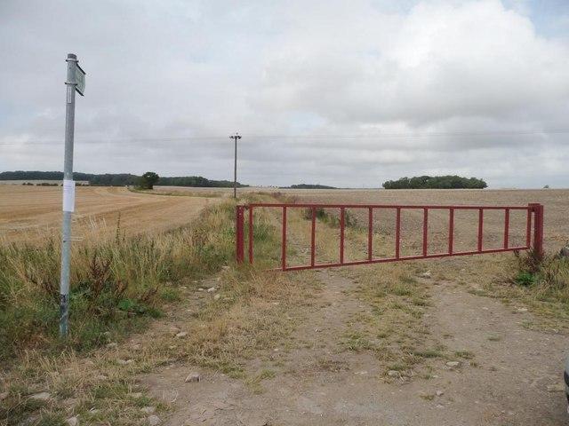 Gated public footpath