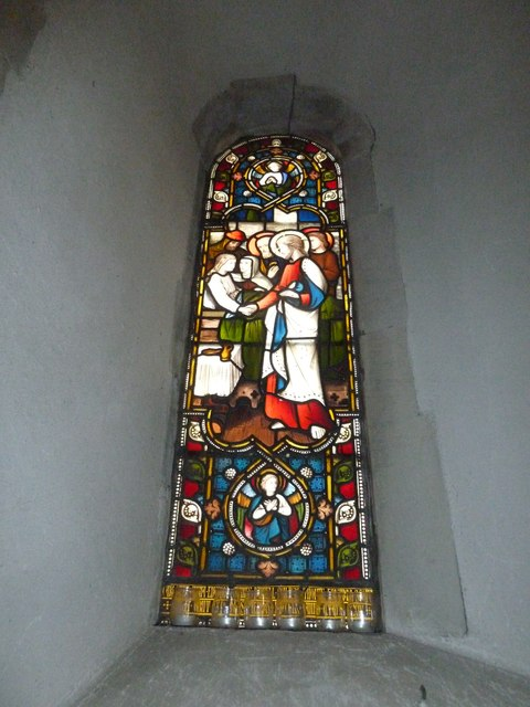 All Saints, Crondall: stained glass window (7)