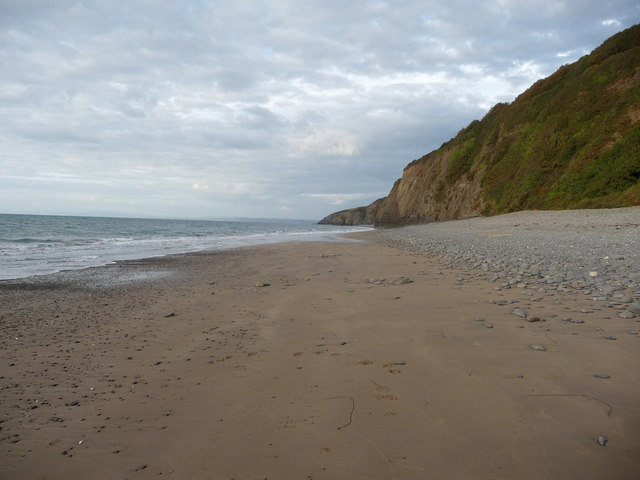 Cei-bach beach on an August evening