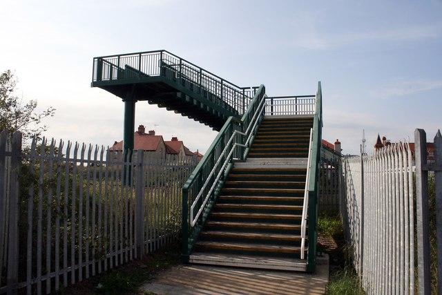 Railway footbridge in Rhyl