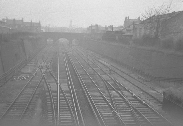 Woolwich Arsenal Station sidings in 1959