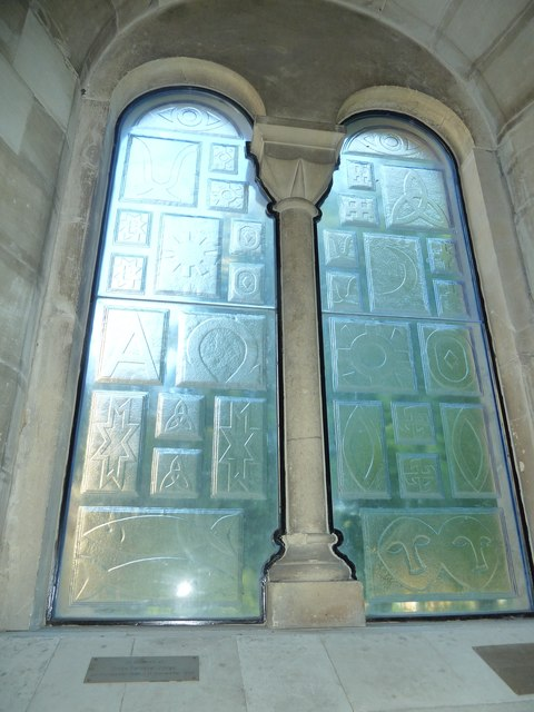 All Saints, Crondall: church window
