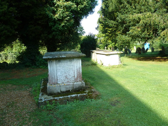 All Saints, Crondall: tomb in the churchyard