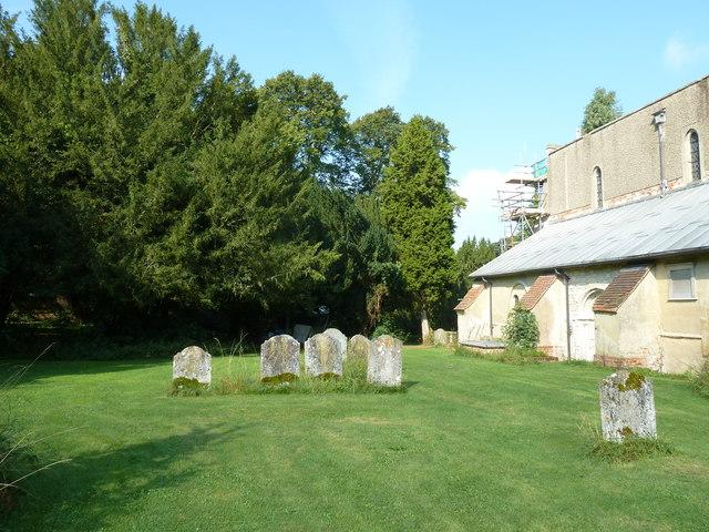 All Saints, Crondall: tomb stones