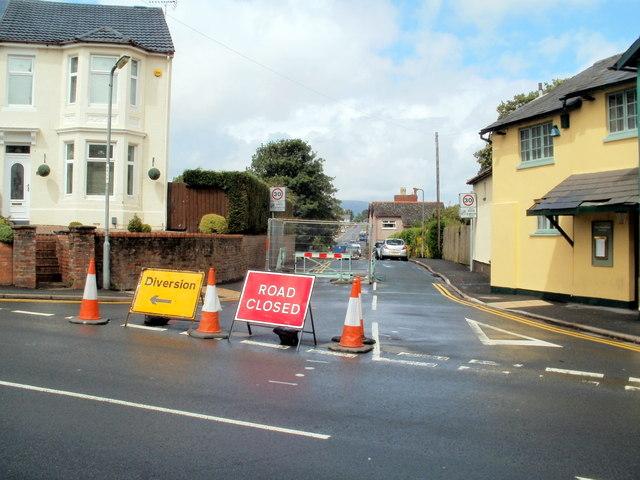 Temporary closure of part of Pillmawr Road, Malpas, Newport