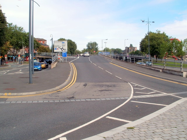 Ramp to the Old Green roundabout, Newport