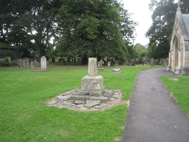 The remains of the churchyard cross, Ulceby