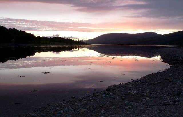 Sunset on Loch Eil Again