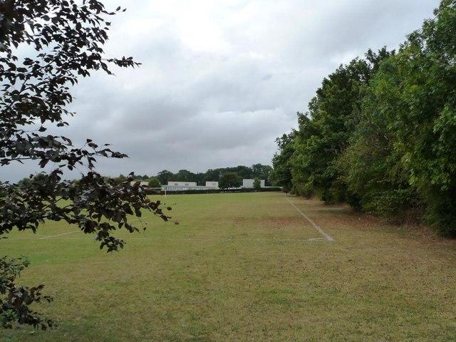 Corner of Campsmount Technology College's sports field