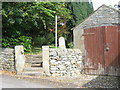 SK2164 : Steps to public footpath through the churchyard in Youlgrave by peter robinson