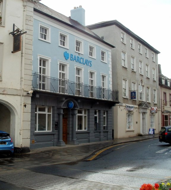 Grade II listed Barclays Bank, Brecon