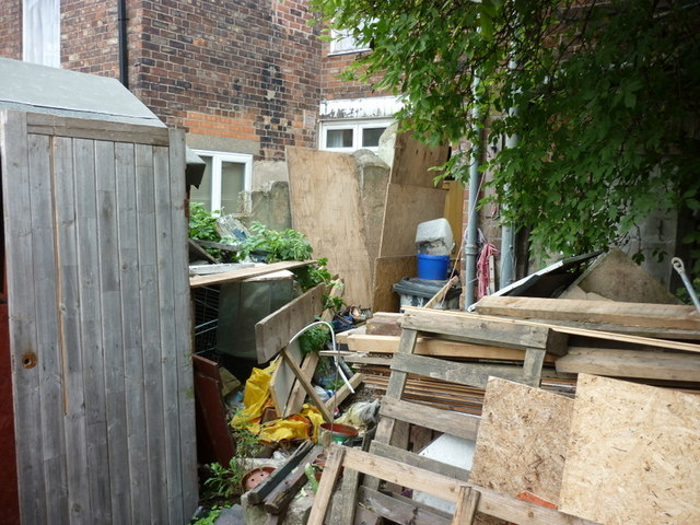 The back yard of an occupied house down Grafton Street