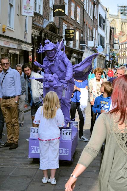Purple Cyclist in Stonegate
