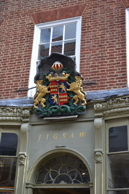 Coat of Arms on Jigsaw Shop in Stonegate
