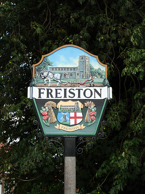 Freiston village sign