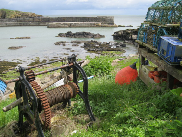 Old winch at Collieston Harbour