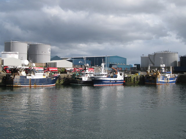 Trawlers in Peterhead's South Harbour
