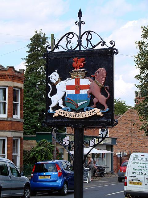 Heckington village sign