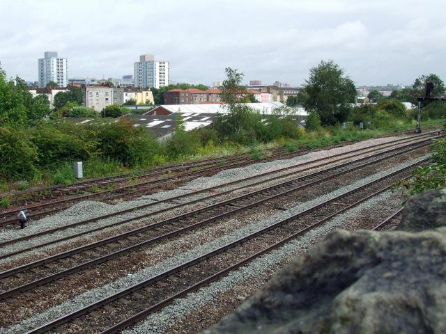 Railway tracks at Victoria Park
