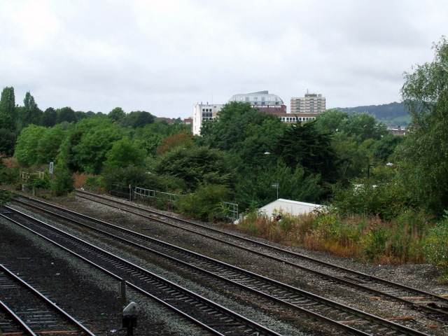 Railway tracks at Victoria Park