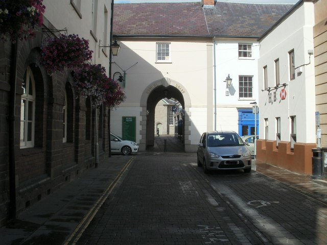 Arched entrance to Bethel Square, Brecon