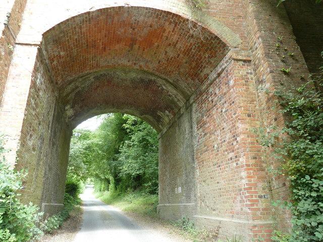 Brickwork on the former Chichester to Midhurst line