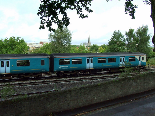 Train near Bedminster station
