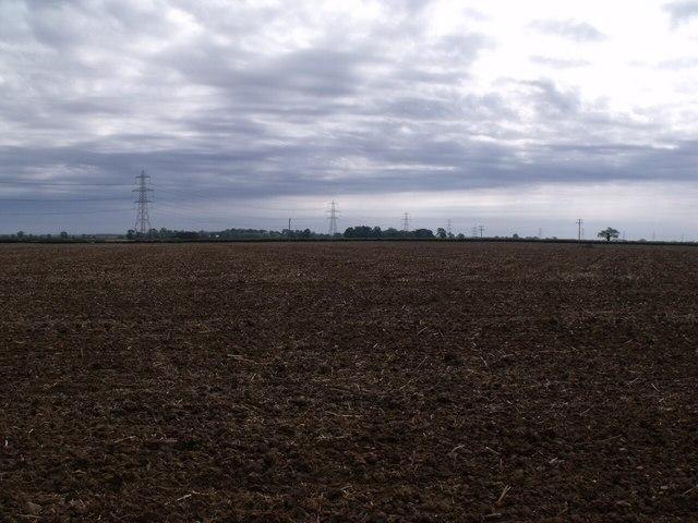 Farmland and Pylons near Asgarby