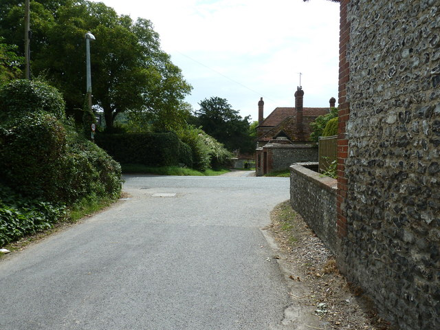 Lane junction with the A286 at West dean