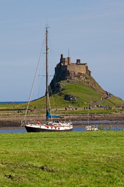Towards Lindisfarne Castle