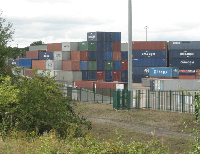 Stacked shipping containers, BIFT