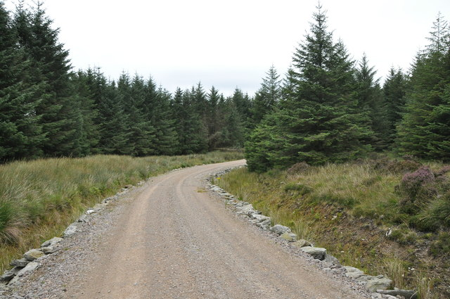 Forest road, North of Allt na Dunaich, Kintyre