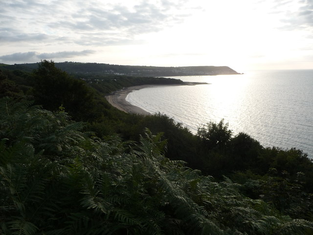 View from the Ceredigion Coast Path above Little Quay Bay